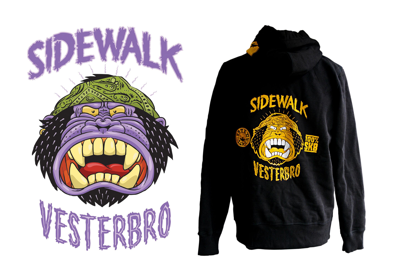 Sidewalk Skateshop Gorilla illustration  www.totcph.com