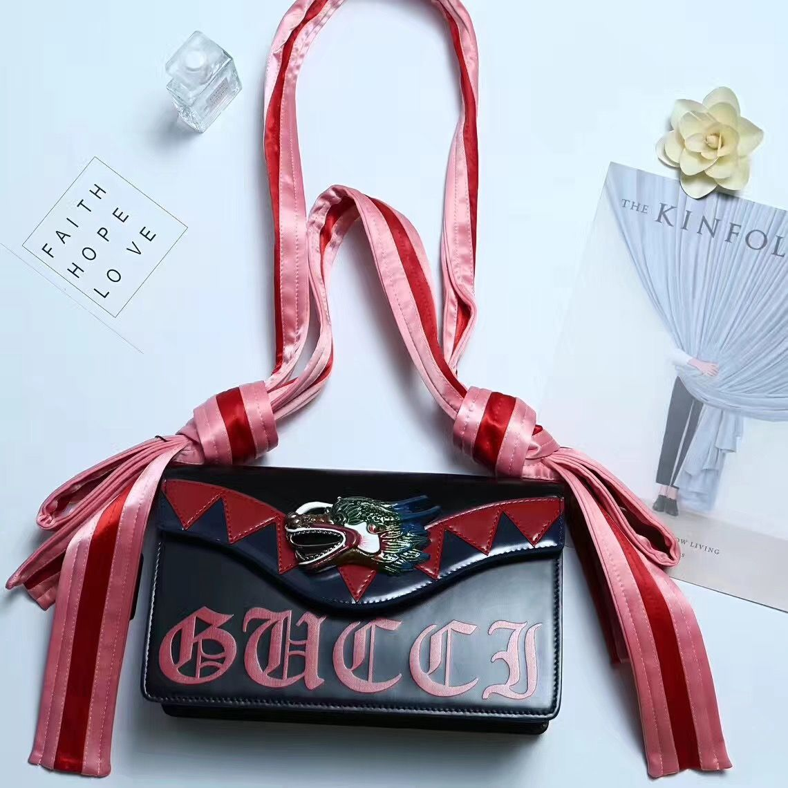 22264743fd17 Gucci Dragon Shoulder Bag 100% Authentic 80% Off | Real Gucci Wallets