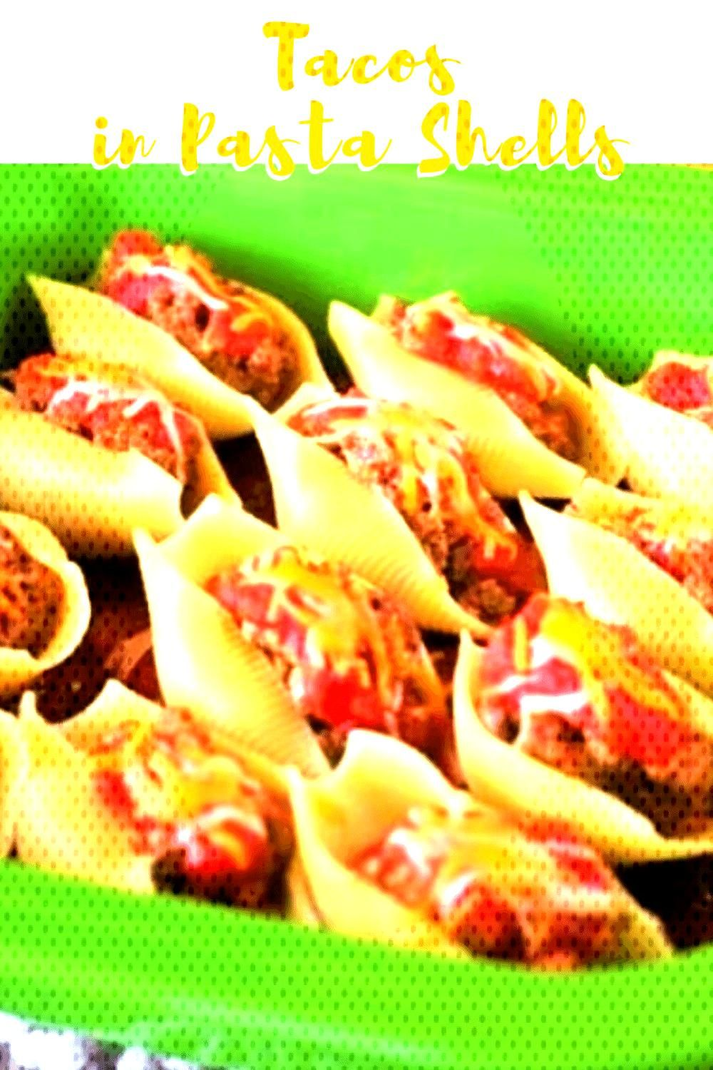 Cheesy Stuffed Shells Made With Jumbo Shells, Salsa, And Taco Meat Are The Perfect EASY Weeknight M