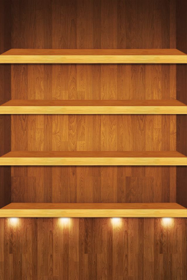 wallpaper shelves ipod wallpaper