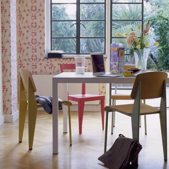 Faro 100% Linen Set Of  Floral Wallpapers Dining Chairs And Room Classy Funky Dining Room Table And Chairs Design Decoration