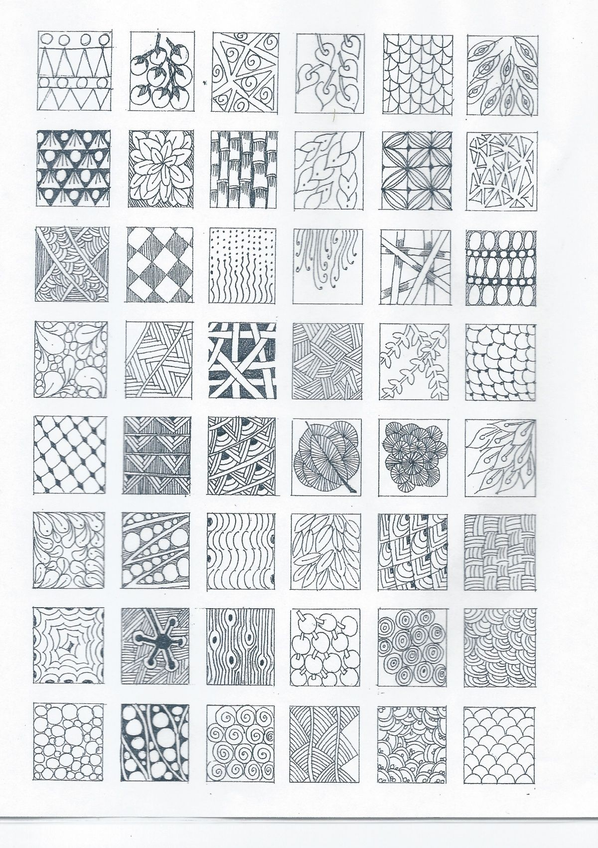 Zentangle - Nice selection of tangle patterns. Should be easy to ...