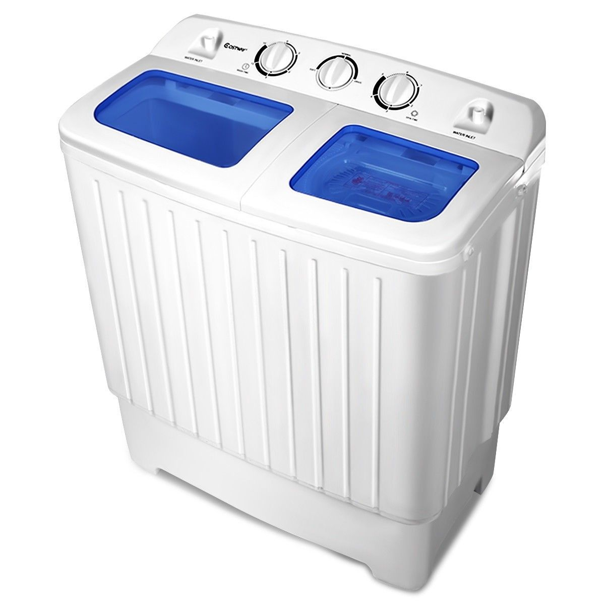 Portable Twin Tub Mini Washing Machine Washer Spinner Color White
