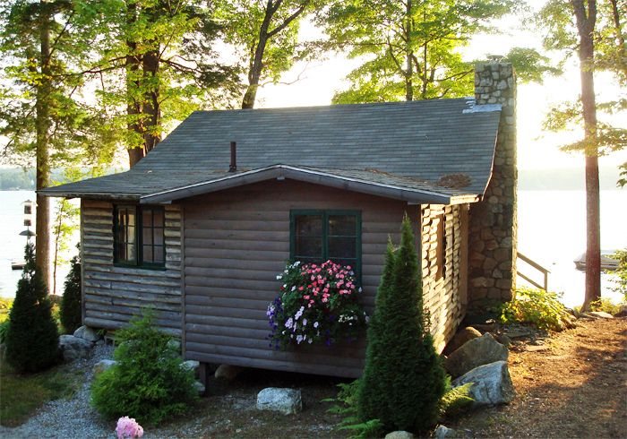 frye cabins sebago near lake maine cabin vacation in cottage classic slholl pin rental rentals s leap