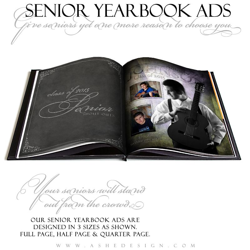 Yearbook Ad Designs - Raise The Bar - half sheet template