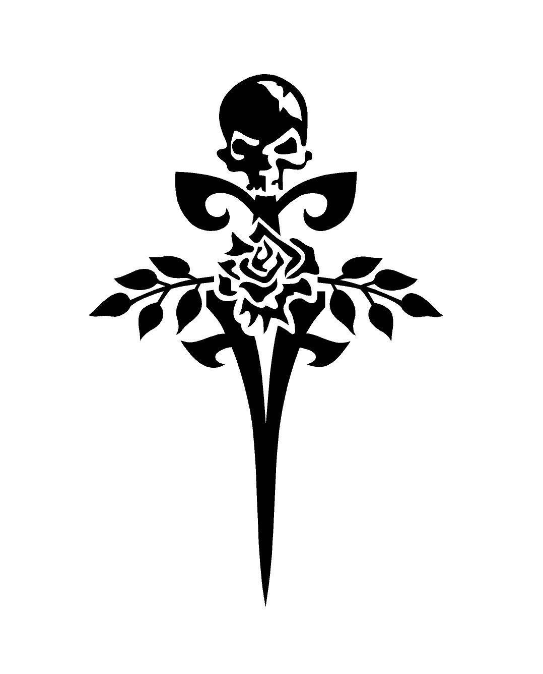 Excited to share this item from my etsy shop gothic rose skull floral sword decal gothic decal custom vinyl computer laptop car auto vehicle window decal