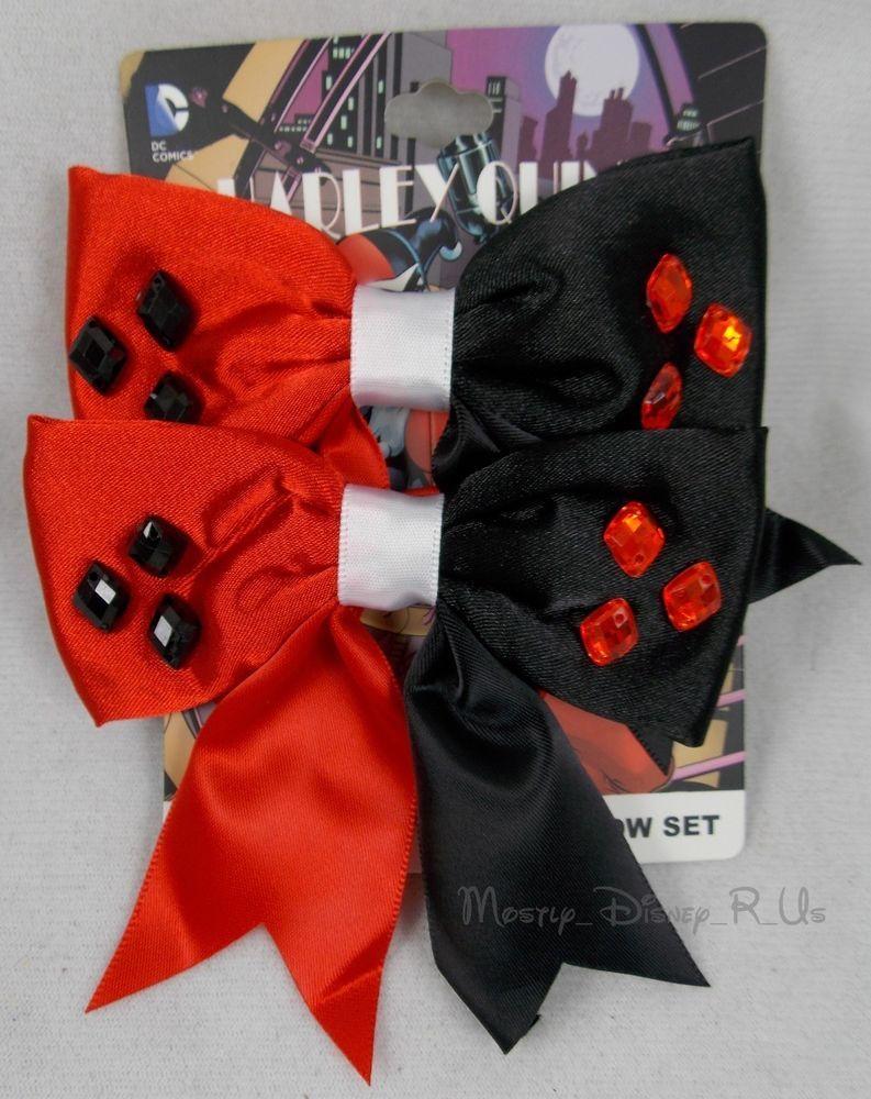 1dc84d51 New DC Comics Batman Harley Quinn Cosplay Ribbon Bow Tie Hair Costume Dress  Up #DCComics