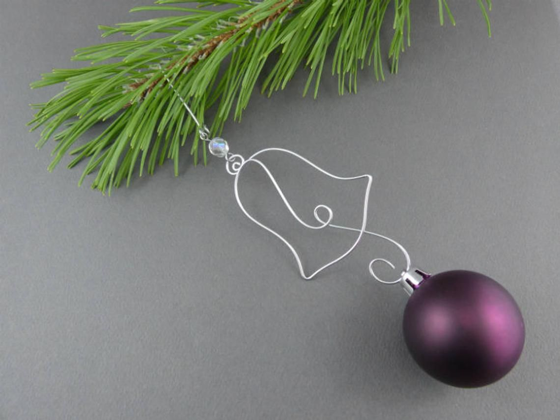 Ten Beaded Christmas Ornament Hooks Wire Ornament Hangers With Beads For Unique Christmas Ornaments Beaded Christmas Ornaments Wire Ornaments Ornament Hooks