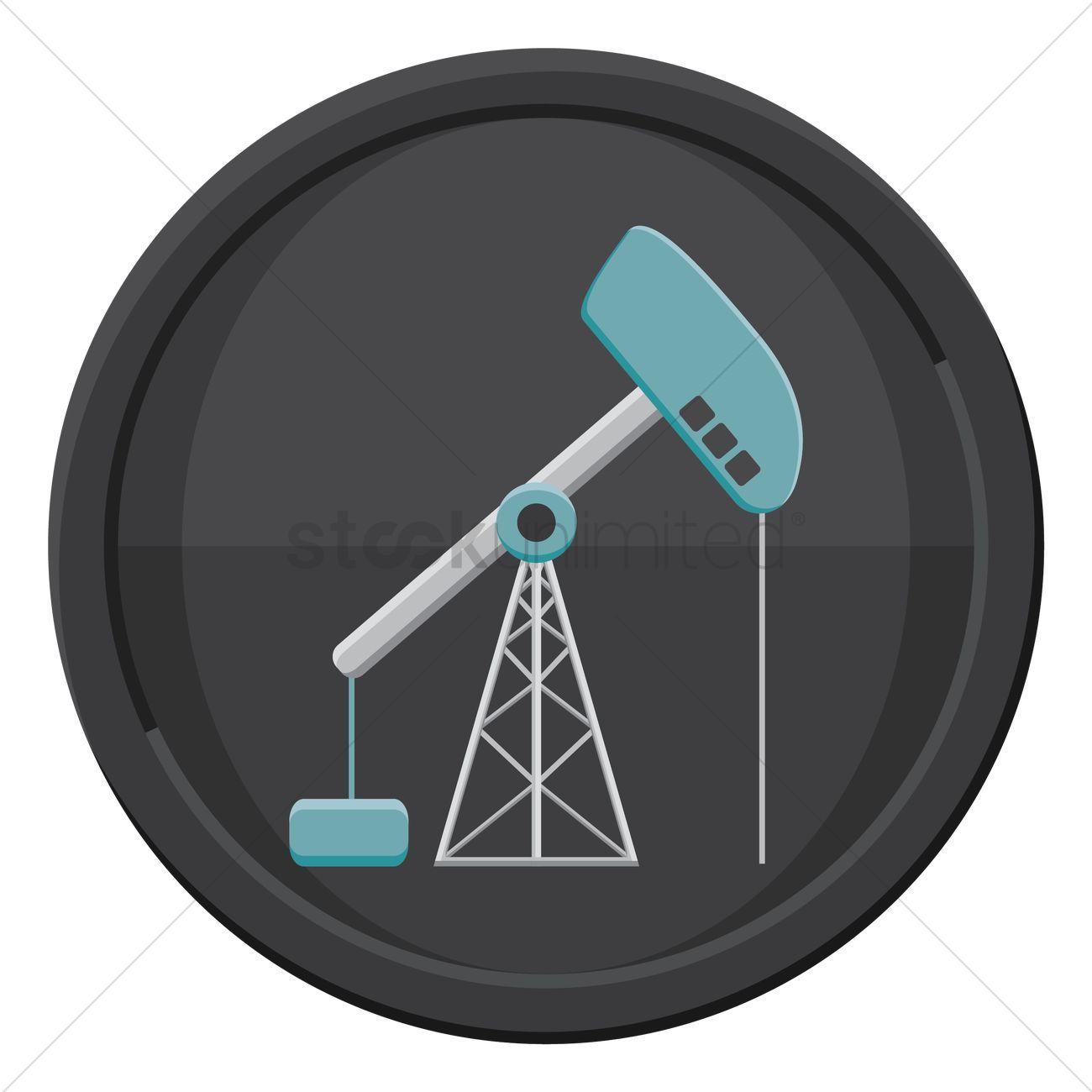 Oil pump stock vector