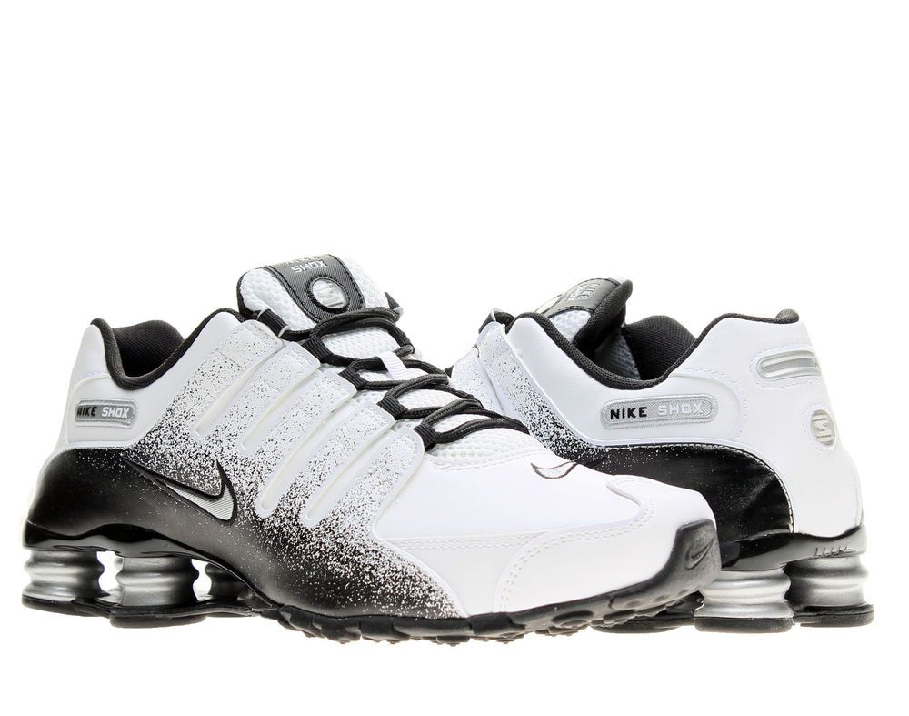 Nike Shox NZ EU White Silver-Black Mens Running Shoes 501524-103  Nike   RunningCrossTraining e4eb61aee0f