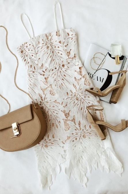 Super Dress White Lace Casual Chic Ideas -   16 dress Lace bodycon ideas
