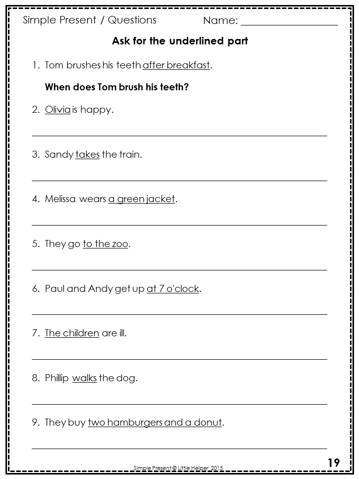 English Worksheets english worksheets with answers : ESL Simple Present Worksheets | Esl lessons, Worksheets and Sentences
