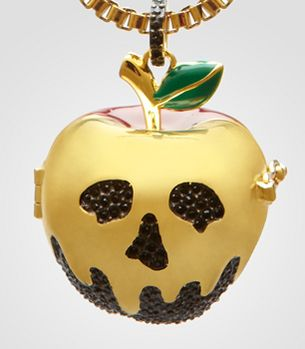 I SOOO WANT THIS Disney Couture Snow White-inspired Poison Apple locket necklace. $100.00