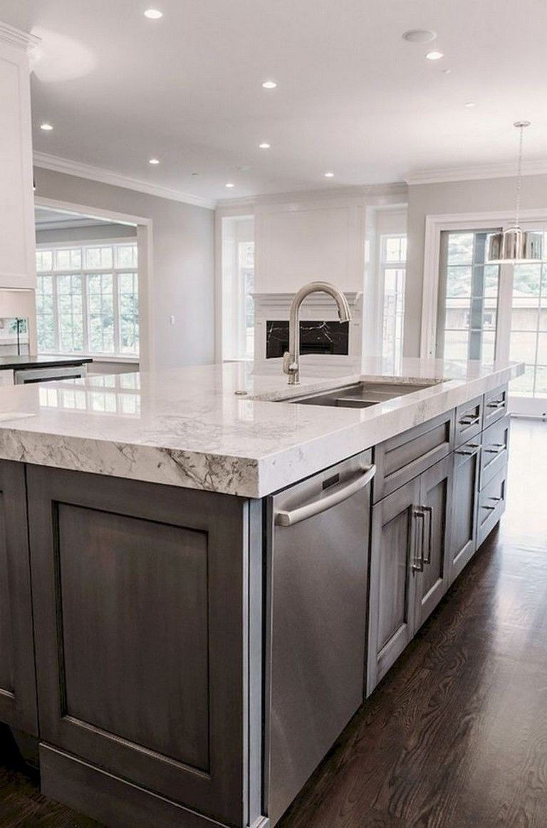 Best 70 Amazing Farmhouse Gray Kitchen Cabinet Design Ideas 400 x 300