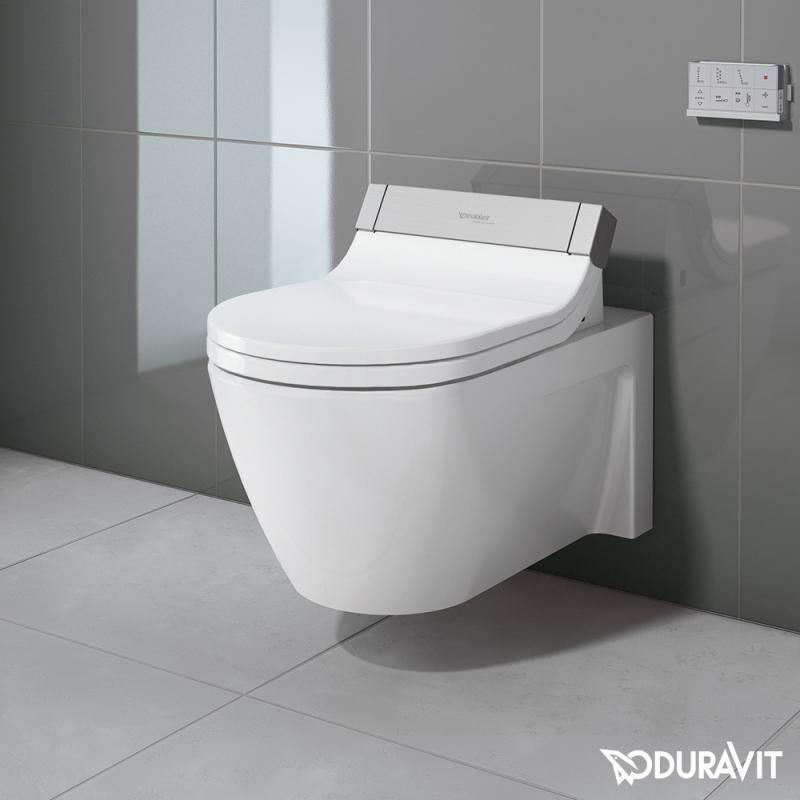 Duravit Starck 2 Wand-Tiefspül-WC mit SensoWash® Starck e WC-Sitz ...