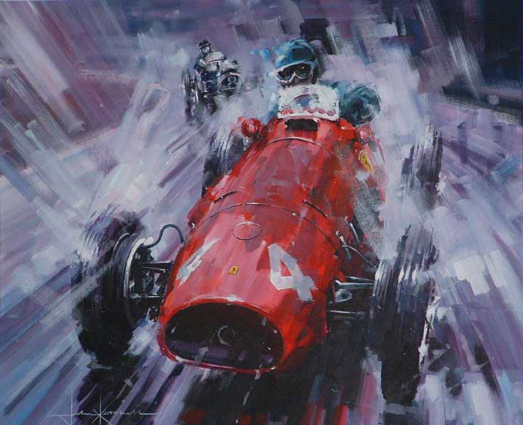 Abstract Art Race Car Paintings