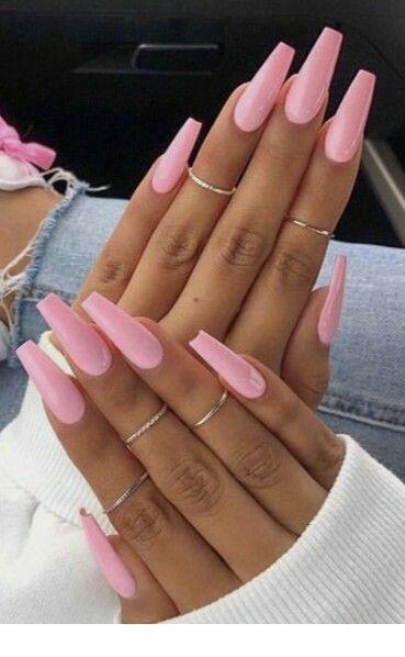 Long Acrylic Pink Nails Inspiring Ladies Wedding Acrylic Nails Best Acrylic Nails Long Acrylic Nails