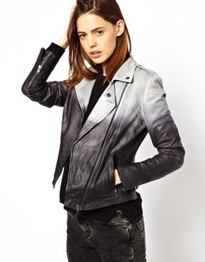 Muubaa Fornas Ombre Leather Biker Jacket - is ombre over? I kinda dig this either way...