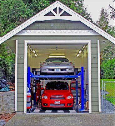 Attitude Four Post Car Lifts Single Two Car Platforms Garage
