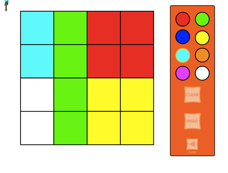 A 4x4 Grid That You Can Put Up On Your Whiteboard And Colour As You Wish Practice Naming And Creating Fractions Til The 1 16ths F Math Apps Fractions Math