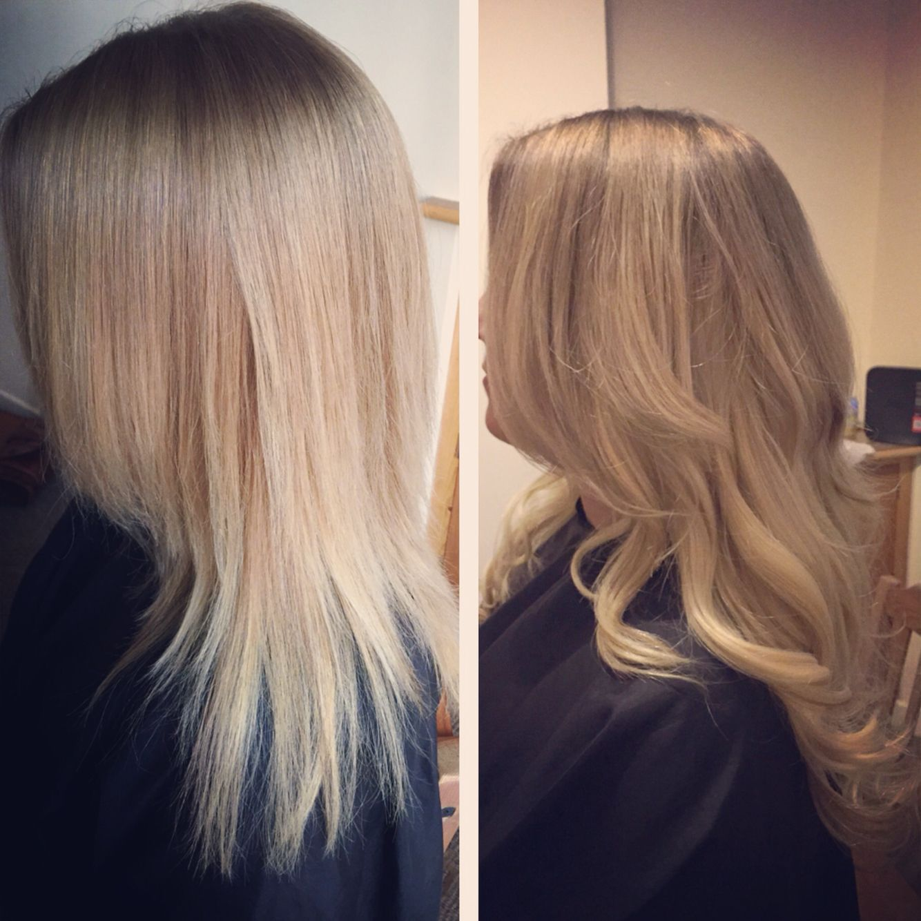 Before And After Balmain Hair Extensions 200 Bonds Used Hair