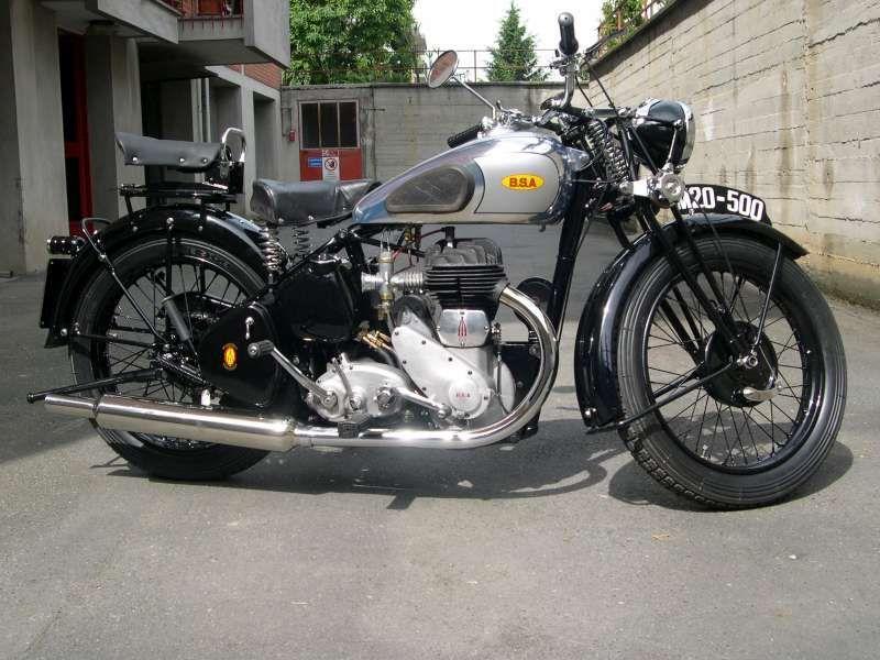 Classic Bikes Bsa Motorcycles Bsa Wd M20 1942 500cc Sepeda Motor Motor Klasik Bmw