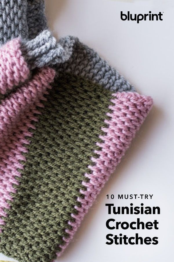10 Tunisian Crochet Stitches You've Gotta Try #tunisiancrochet