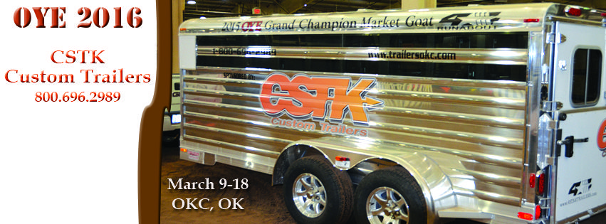 A big thank you to CSTK Custom Trailers for their continued support and sponsorship with 4-Star and the Oklahoma Youth Expo!! (800) 696-2989