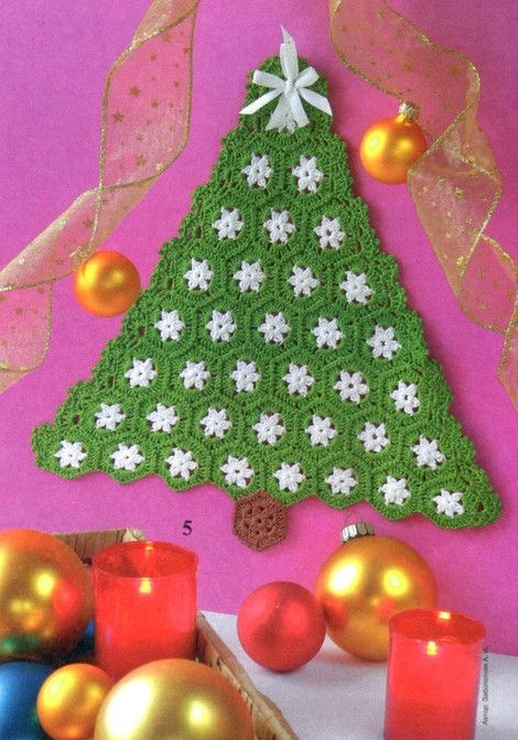 Crochet Christmas Tree - Chart ❥ 4U hilariafina http://www.pinterest.com/hilariafina/