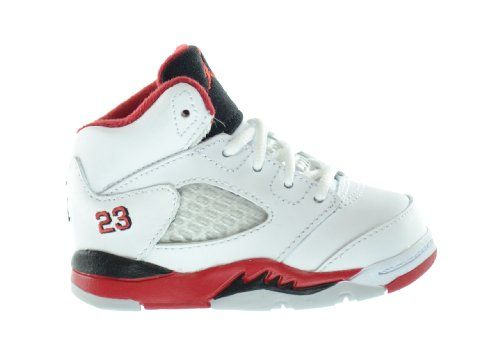 big sale 209c5 dcee7 Air Jordan 5 Retro (TD) Baby Toddlers Basketball Shoes White Fire Red-Black  - Price  View Available Sizes   Colors (Prices May Vary) Buy It Now Modeled  ...