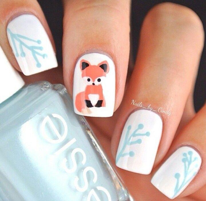 Super fox nails ;) | Nail Art | Pinterest | Fox nails