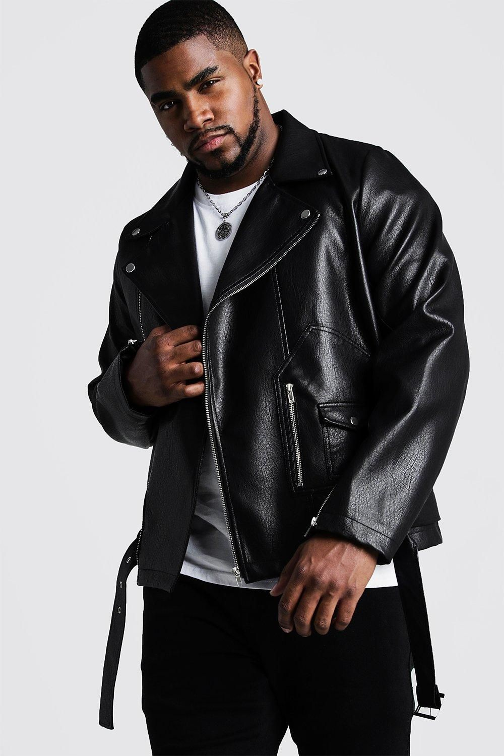 Plus Size Faux Leather Moto Jacket Boohooman Faux Leather Biker Jacket Biker Jacket Men S Coats And Jackets [ 1500 x 1000 Pixel ]