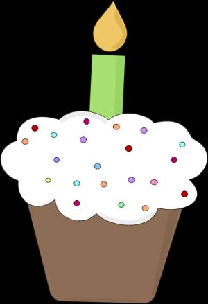 Fun Birthday Cupcake Clip Art - Fun Birthday Cupcake Image