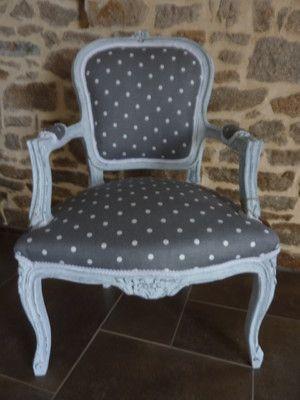 retapiss un fauteuil louis xv tissus ppis peinture effet craquel customisation meubles. Black Bedroom Furniture Sets. Home Design Ideas