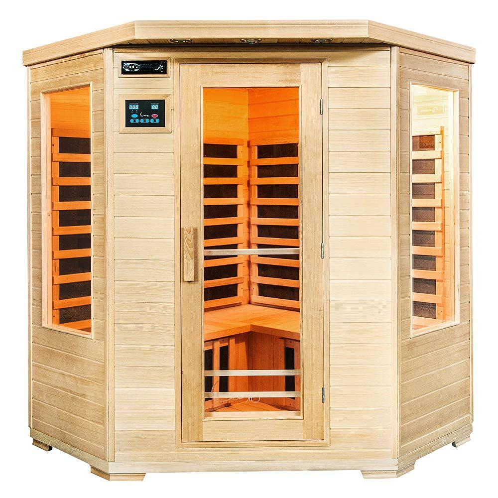 Buy Luxo Taavi 4 Person Corner Infrared Sauna Online ... on Luxo Living Outdoor id=65232
