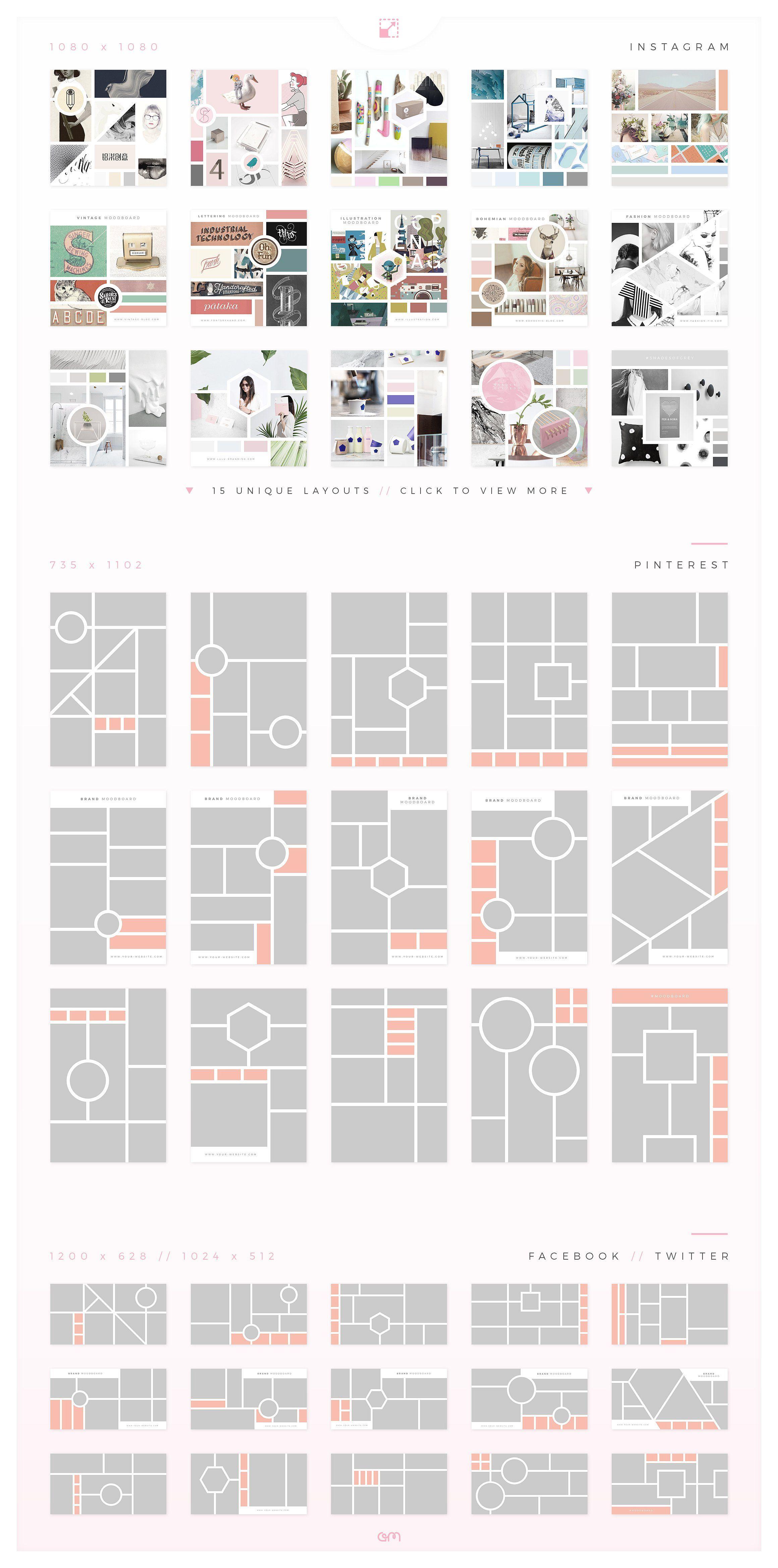 Mood Board Pack | Aufkleber, Sticker und Webseite