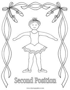 1st Position Coloring Page   Dance Coloring Pages   Pinterest ...