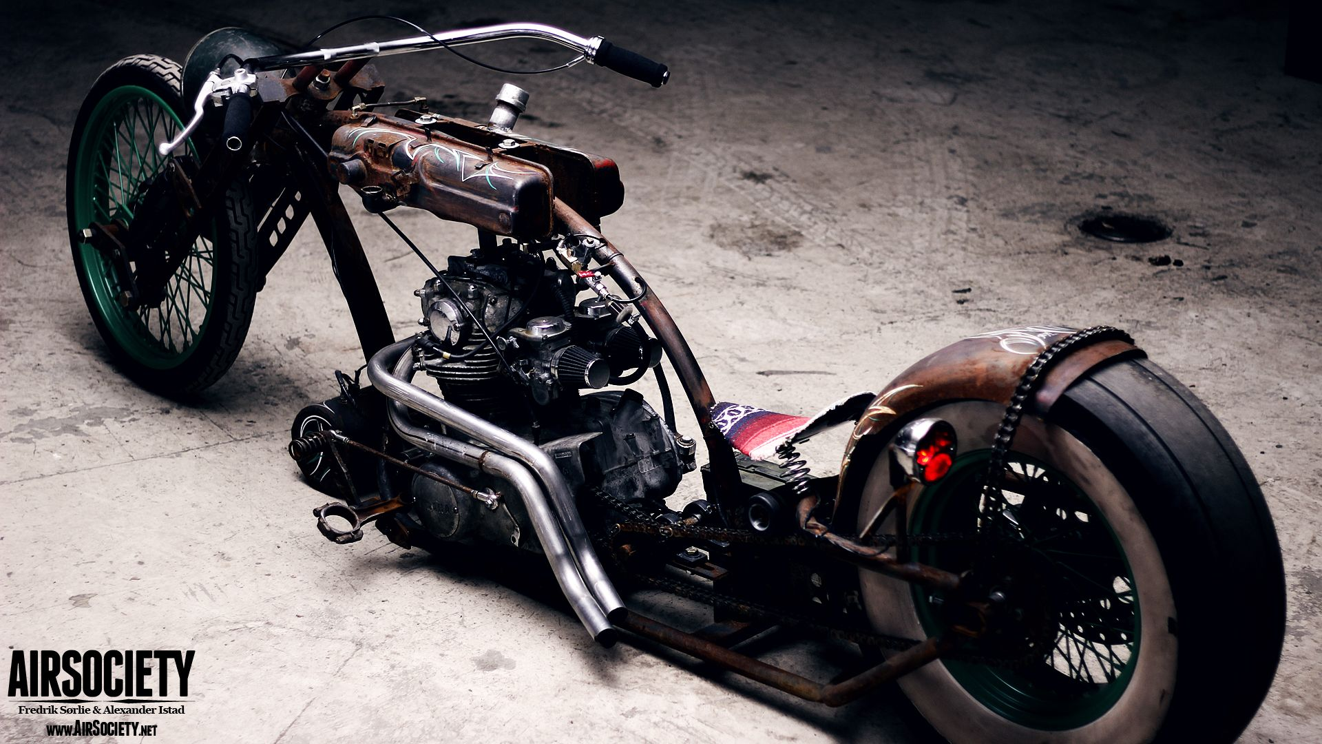 The base bike was a 1980 xs650 in a very poor state cylinders where - Rat Bike