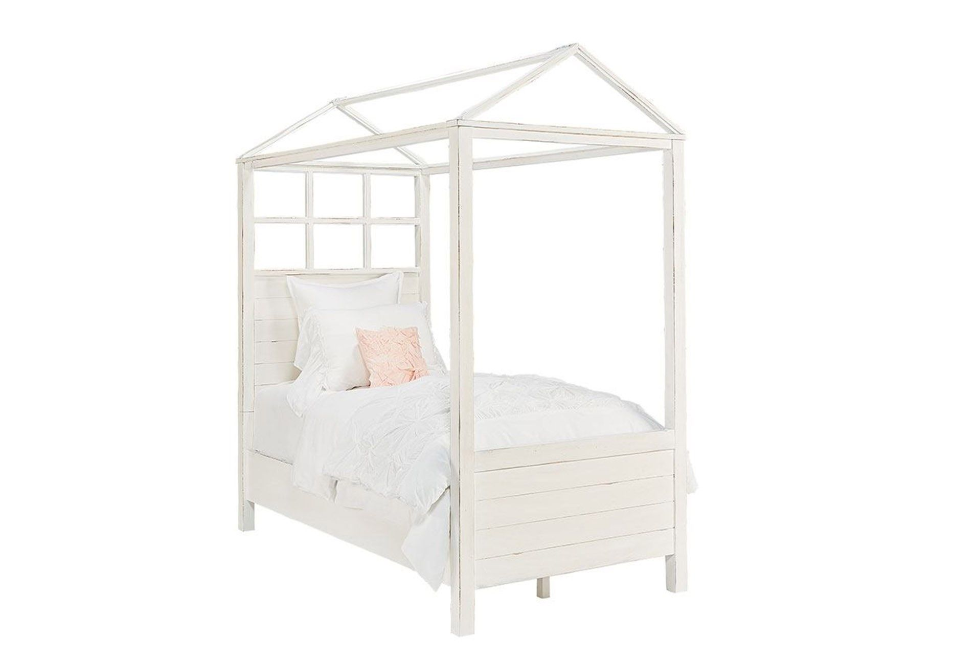 - Magnolia Home Playhouse Jo'S White Twin Canopy Bed By Joanna