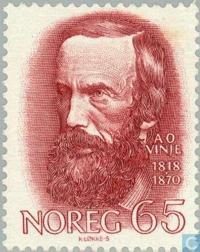 Postage Stamps - Norway - Aasmund Olavsson Vinje