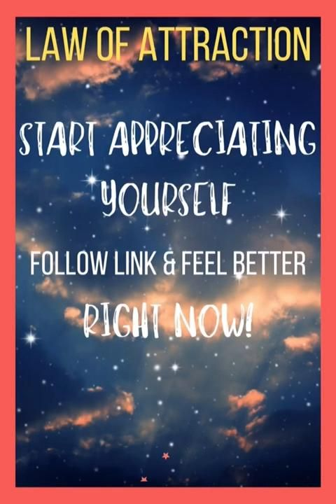 Using the guidance of the law of attraction, start appreciating yourself - follow the link and start feeling better NOW! #lawofattraction #lawofattractioncoach #manifestation #manifest #feelings #feels #goodvibes #goodvibesonly #abundance #abundancemindset #abrahamhicks #abraham #universe #universalguidance