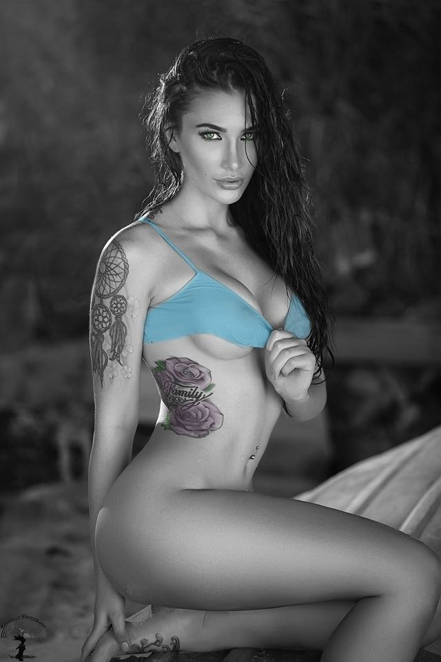 2016 beautiful woman krystal lenkova black for Nude women tattoo