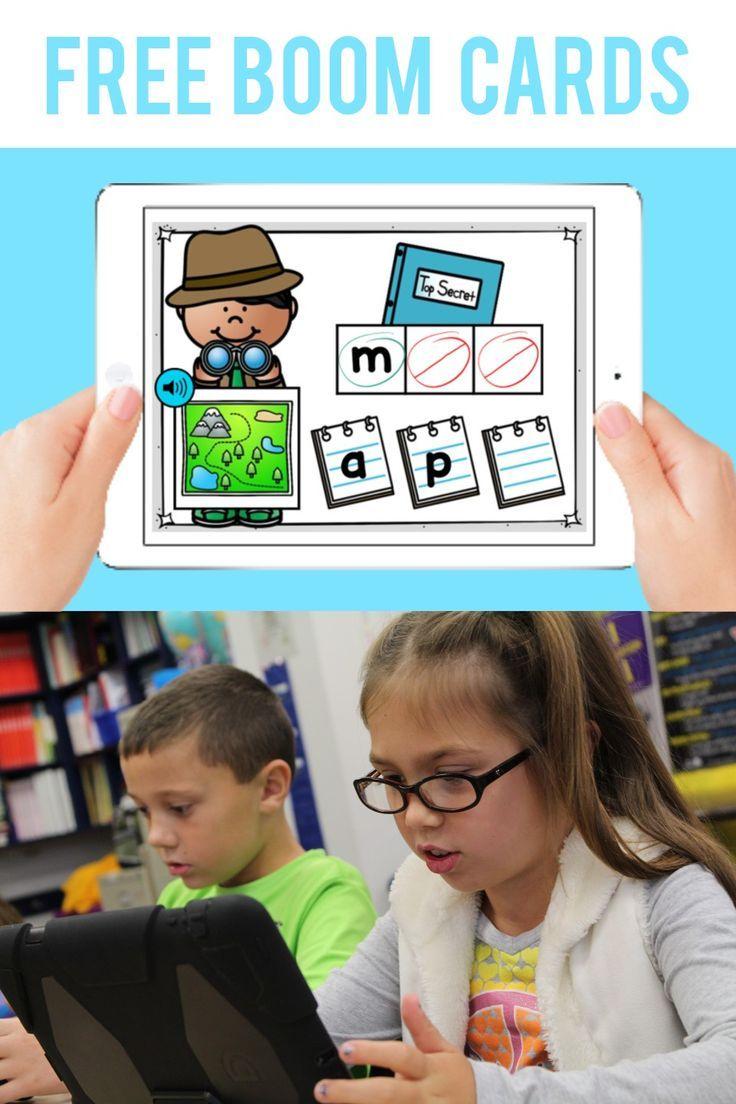 Free cvc boom cards deck google classroom kindergarten