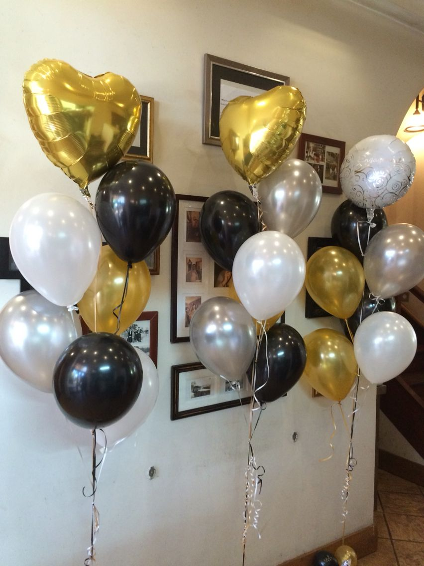 Engagement Balloons Feature Foil Arrangement Alternating Gold