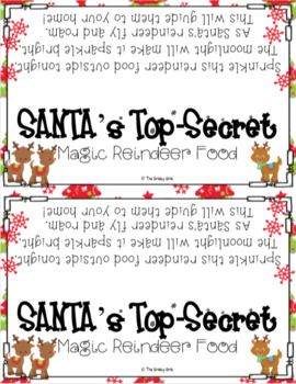 Reindeer food letter from santa bag toppers and how to writing reindeer food letter from santa bag toppers and how to writing activity spiritdancerdesigns Image collections