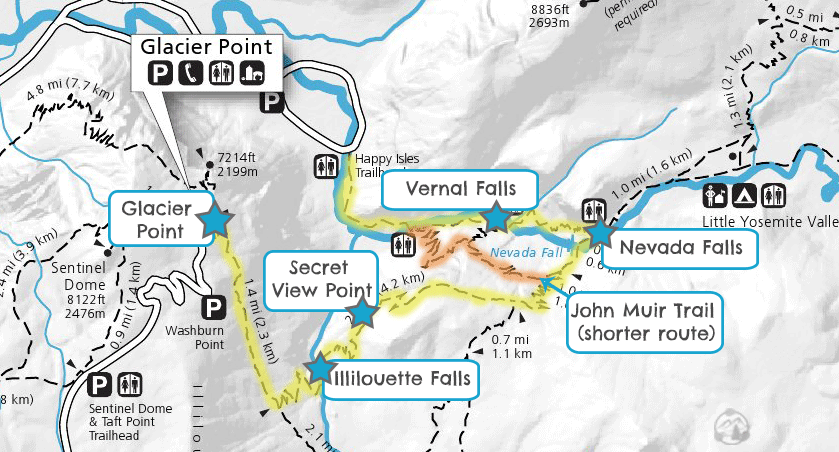 Panorama Trail in Yosemite Map & Guide | Guide to Yosemite Camping on yosemite ten lakes trail, atlanta trail map, glencoe trail map, highland trail map, windsor trail map, zion national park trail map, acadia national park trail map, black canyon of the gunnison trail map, maxwell falls trail loop map, glacier national park trail map, half dome trail map, dead horse point trail map, hollywood trail map, kentucky trail map, bell trail map, west seattle trail map, kulshan trail map, yosemite hat, yosemite trail guide, whittier trail map,