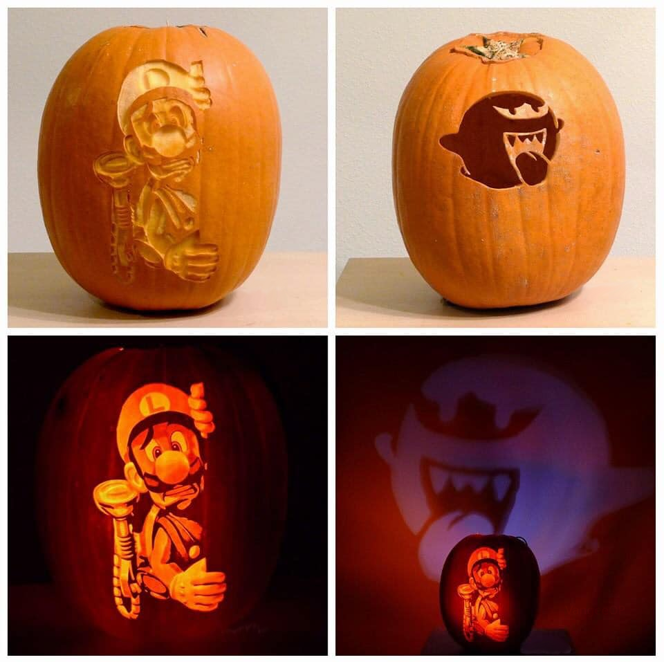 This Luigi's Mansion pumpkin carving Pumpkin carving