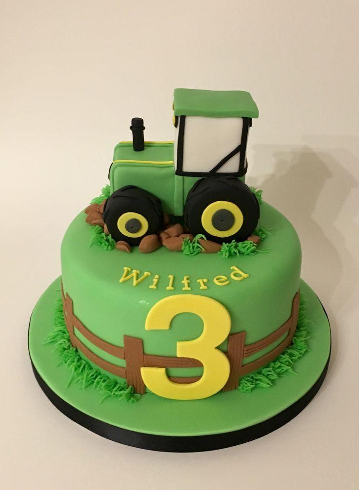 Traktor Kuchen Kuchen Traktor Traktorkuchen In 2020 Tractor Birthday Cakes Second Birthday Cakes Tractor Cake