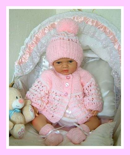KNITTING PATTERN for BABY MATINEE JACKET TROUSERS /& HAT #80 NOT CLOTHES