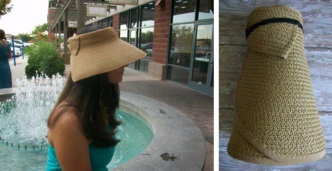 Roll Up Straw Hat